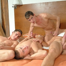 Hot Foursome In Prague